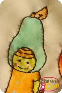 menina cabeça de pera