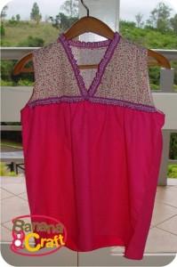 blusa rosa com babados