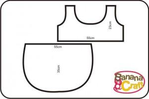 costura molde de bolsa