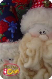 guirlanda com papai noel de tecido