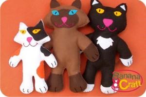 gatos de feltro