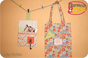 porta-trecos e bolsa de tecido