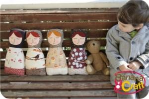 bonecas russas de tecidos