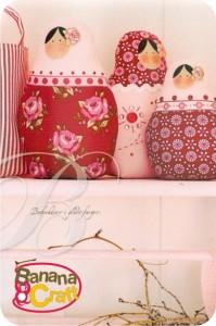 bonecas russas de tecido