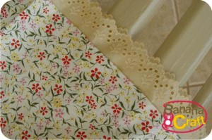 saia de flores - costura