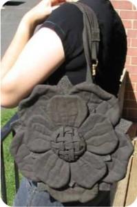 costura: bolsa flor