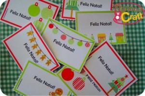 natal - cartões para imprimir em casa