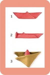 flor de guardanapo de tecido