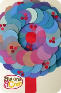 natal - guirlanda de círculos de papel