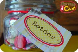 etiquetas para organizar botões