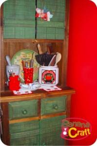 armário verde - cozinha