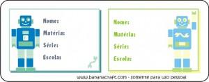 etiquetas para imprimir - robôs