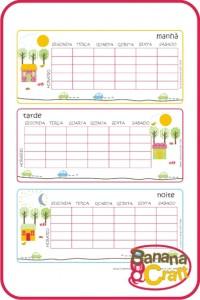 para imprimir - tabela de horário