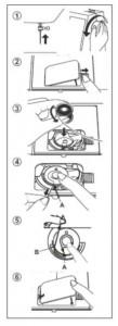 bobina - máquina de costura singer