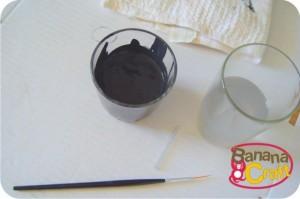 pincel e tinta