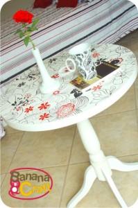 decoração - mesa customizada com flores