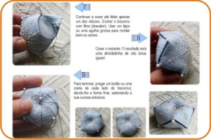alfineteiro - biscornu - costura - tutorial