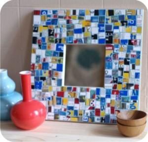 mosaico de plástico reaproveitado - reciclagem