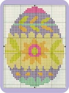 gráfico de ponto cruz - ovo de páscoa