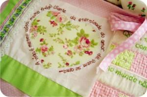 coração - patchwork - bordado