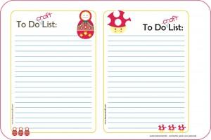 para imprimir - lista de tarefas craft
