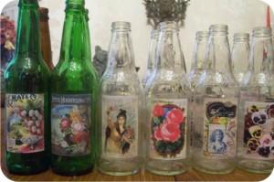 vaso feito de garrafa - reciclagem