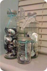 vidros para guardar lantejoulas e paetês