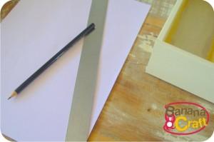 régua e lápis