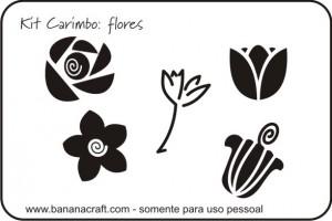 flores para fazer carimbo de borracha