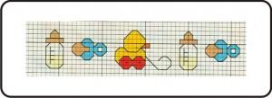 gráfico de ponto cruz - bebê