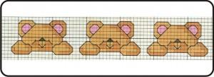 gráfico de ponto cruz - urso