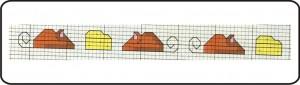gráfico de ponto cruz - ratinho