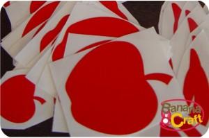 adesivos de maçãs vermelhas