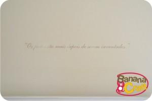 adesivo de vinil - frase na parede