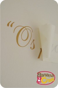 adesivo de vinil na parede