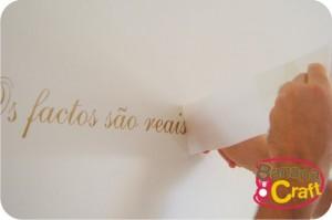 frase na parede - adesivo de vinil