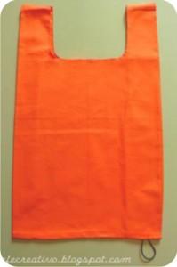 sacola de tecido igual a de plástico
