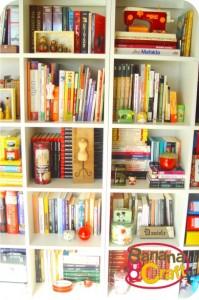 estantes com nichos para livros