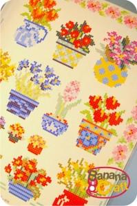 gráficos de ponto cruz - vasos de flores