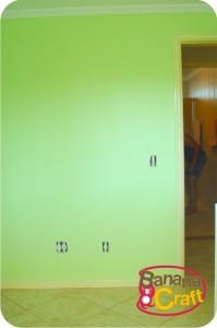parede pintada de verde maçã
