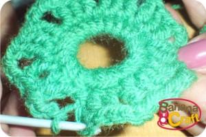 quadrados de crochê - lã