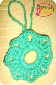 quadrado de crochê - lã