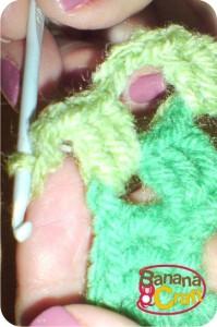 quadrado de crochet
