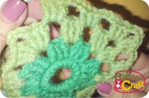 pap - quadrados de crochê de lã