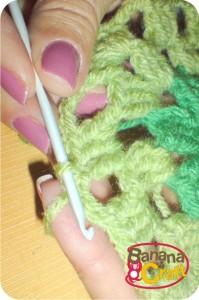 passo a passo de quadrado de crochet