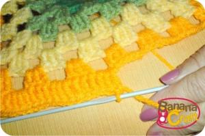 como fazer quadrados de crochet