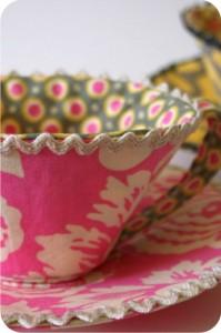 xícara forrada com tecido - colagem