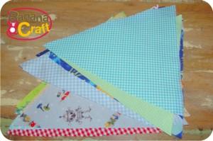 costura - bandeiras de tecido para o quarto do bebê