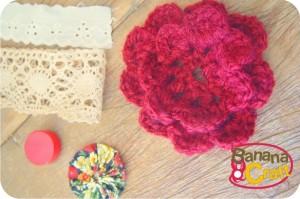 flor de crochê - fuxico - bordado inglês - renda de algodão