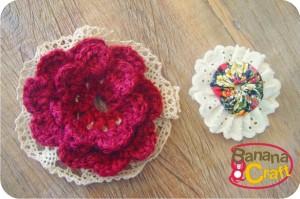flor de crochê - flor de fuxico - bolsa